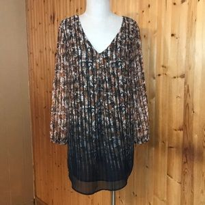 NWT ASTR S Long Sleeve Sheer Rusty Daisy Dress